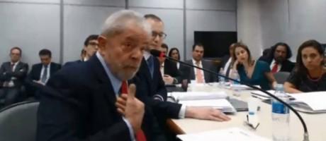 Lula nega acusações em depoimento sobre o sítio de Atibaia Foto: Reprodução