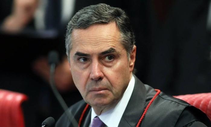 O ministro Luís Roberto Barroso, durante sessão do TSE Foto: Divulgação/TSE/07-11-2018
