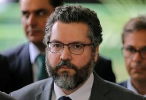 O embaixador Ernesto Araújo foi anunciado como ministro das Relações Exteriores de Bolsonaro Foto: SERGIO LIMA / AFP
