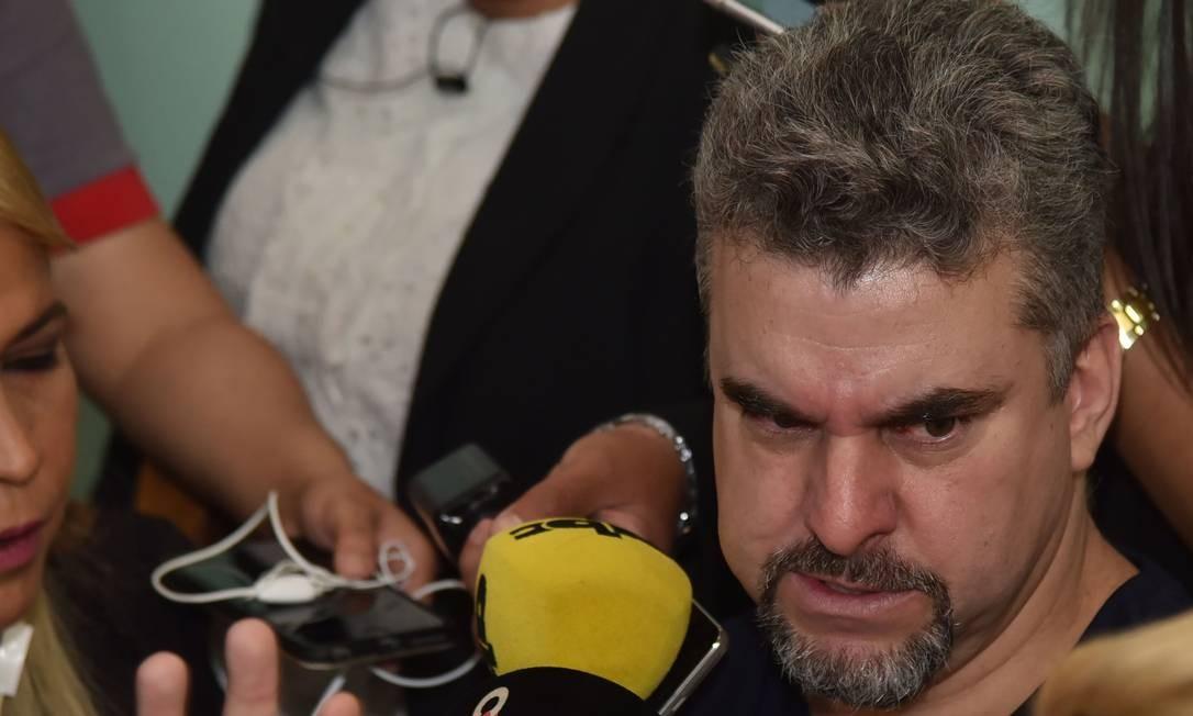 Marcelo Piloto durante coletiva de imprensa no Paraguai Foto: NORBERTO DUARTE / AFP