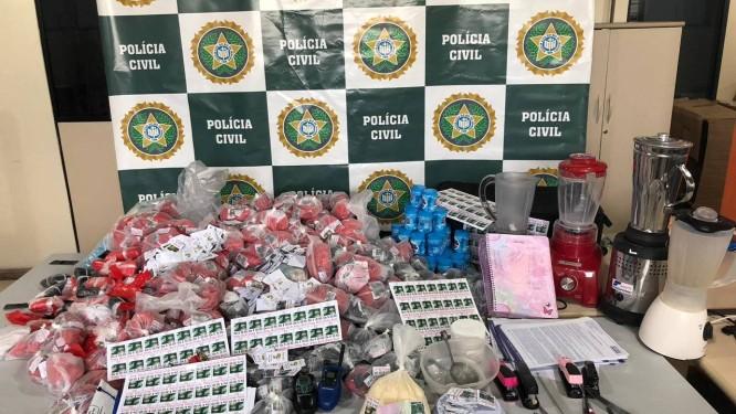 Material foi encontrado pela 96º DP (Volta Redonda) Foto: Divulgação