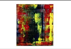 """""""Abstraktes Bild"""", uma tela de Gerhard Richter pintada em 1987, liderou a venda, arrecadando US$ 32 milhões Foto: Reprodução"""