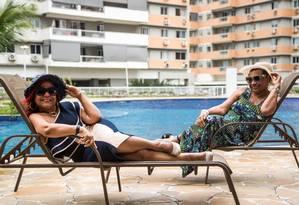 As amigas Graciara Casimiro e Sonia Sabina participam do projeto Foto: Emily Almeida / Agência O Globo