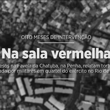 Presos na Favela da Chatuba, na Penha, relatam tortura praticada por militares em quartel Foto: Agência O Globo