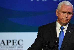 Mike Pence afirmou que tarifas serão mantidas Foto: SAEED KHAN / AFP