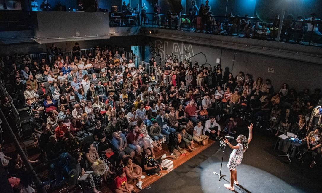 Competição de slam na Flup Foto: Divulgação