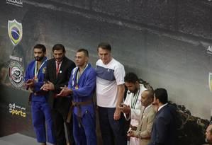 Bolsonaro vai à competição de Jiu-Jitsu, na Barra da Tijuca, no Rio Foto: Gabriel Paiva / Gabriel Paiva