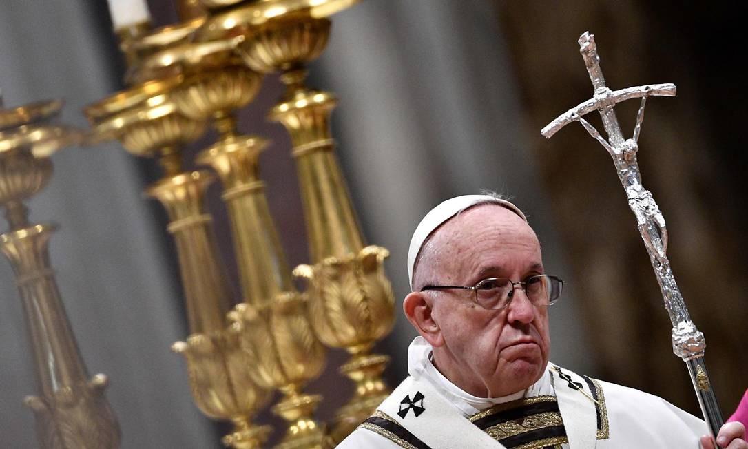 Papa destacou que metade da população global não viu aumento em sua riqueza em 2017 Foto: VINCENZO PINTO / AFP