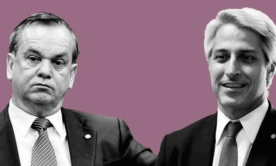 Os deputados federais Peninha (MDB) e Molon (PSB) Foto: Manipulação sobre fotos / Agência O Globo