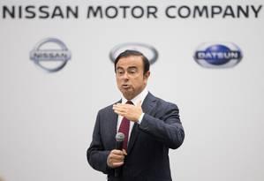 Nascido no Brasil, Carlos Ghosn,foi preso nesta segunda-feira e será demitido pela Nissan Foto: AFP
