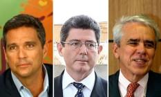 Roberto Campos Neto, Joaquim Levy e Roberto Castello Branco estão entre os indicados para a equipe econômica de Bolsonaro Foto: GLOBO / .