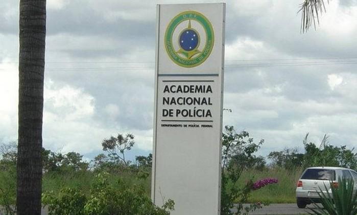 Entrada da Academia Nacional da Polícia Federal Foto: Departamento da Polícia Federal/Academia Nacional da PF