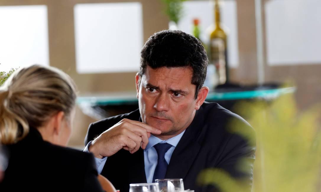 O futuro ministro Sergio Moro durante almoço em Brasília. Foto: Adriano Machado / Reuters