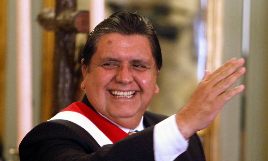 Alan García, durante sua posse presidencial, em 2010 Foto: MARIANA BAZO / REUTERS