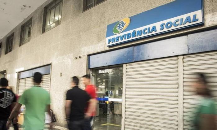 Fachada de agência do INSS no Centro do Rio de Janeiro Foto: Ana Branco / Agência O Globo