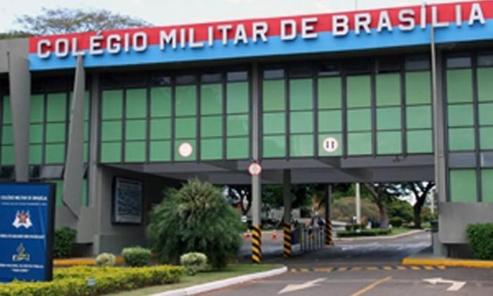 Fachada do Colégio Militar de Brasília Foto: Maricélia P. de Oliveira / Divulgação