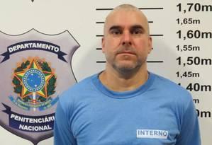Marcelo Piloto de cabeça raspada já no presídio de Catanduvas, para onde foi levado após ser expulso do Paraguai Foto: Divulgação