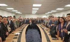 Reunião de representantes da bancada da Saúde e das Santas Casas com o presidente eleito Foto: Reprodução