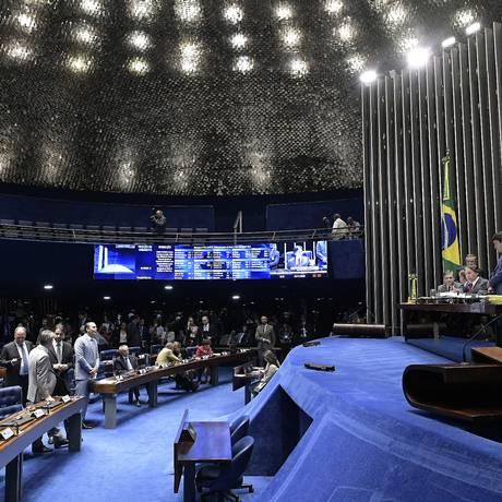 Votação no plenário do Senado Foto: Waldemir Barreto / Agência Senado
