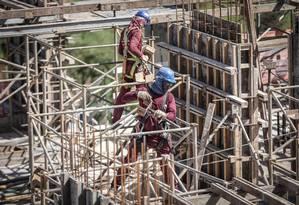 Imóvel em construção em Brasília Foto: André Coelho / Agência O Globo