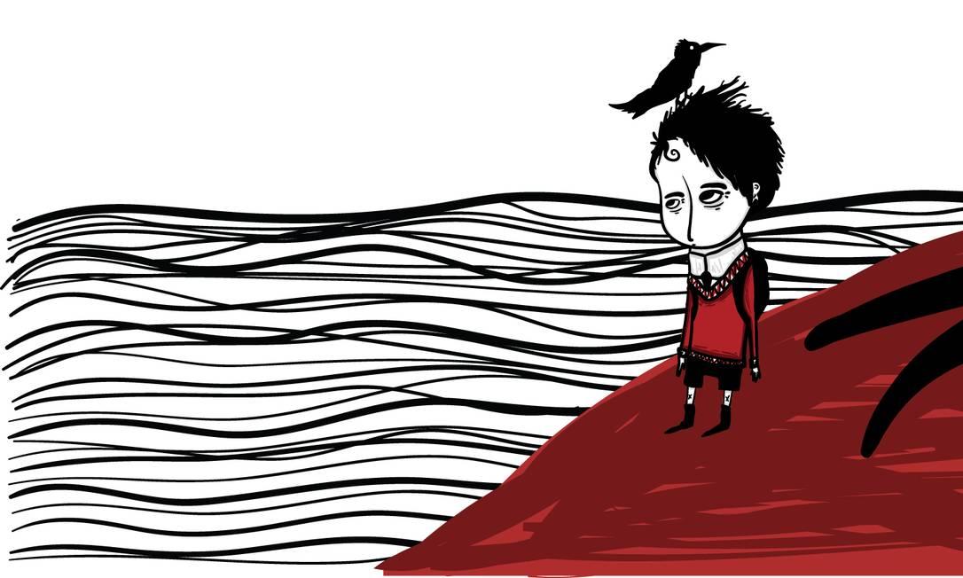 """Ilustração do livro """"Quando o 7 ficou louco"""", de Bram Stoker, editora PIU. Ilustração de Mário Alencar Foto: Reprodução"""