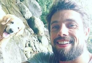 Ator Rafael Cardoso, da TV Globo, foi vítima de arrastão no Rio Foto: Reprodução Instagram