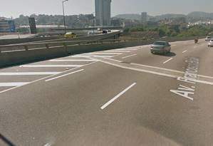 Trecho da Avenida Francisco Bicalho próximo a Rodoviária Novo Rio Foto: Google Street View