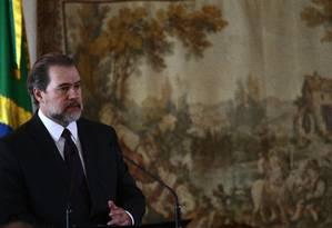 O presidente do Supremo Tribunal Federal, Dias Toffoli, defendeu dignidade humana dos criminosos Foto: Jorge William / Agência O Globo
