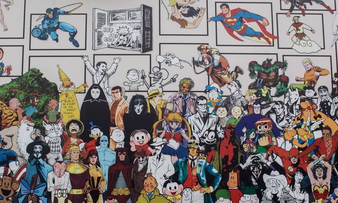 Exposição Quadrinhos no MIS, em São Paulo Foto: Edilson Dantas / Agência O Globo
