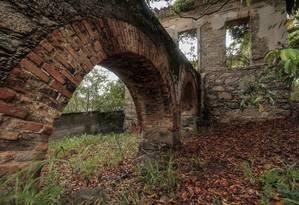 A visitação ao aqueduto do Morro da Chácara será aberta antes da implantação do parque Foto: Thiago Freitas / Agência O Globo