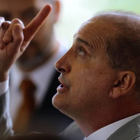 O novo ministro da Casa Civil, Onyx Lorenzoni Foto: Jorge William / Agência O Globo