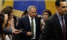 O futuro ministro da Economia, Paulo Guedes, chega à Câmara dos Deputados Foto: Jorge William / Agência O Globo