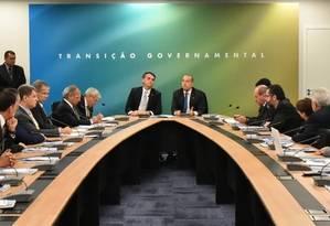 Bolsonaro se reúne com a equipe de transição e futuros ministros Foto: Divulgação