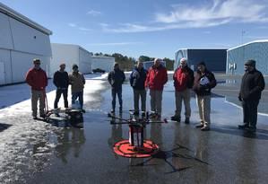 Pesquisadores da Universidade de Maryland conseguiram transportar um rim com um drone Foto: Universidade de Maryland