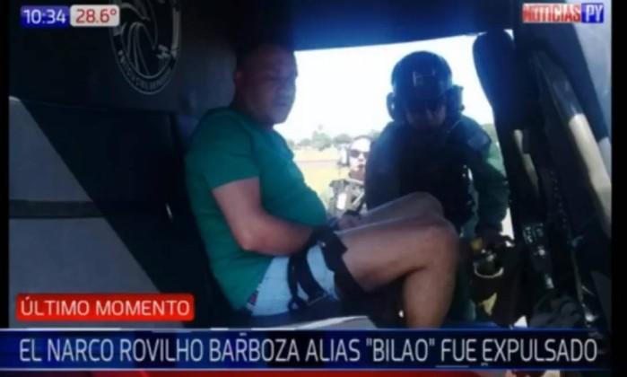 O traficante Bilão foi expulso do Paraguai Foto: Reprodução