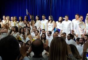 Alunos da Universidade Vila Velha (UVV) se formaram com 15 dias de antecedência para participar do Mais Médicos Foto: Arquivo pessoal