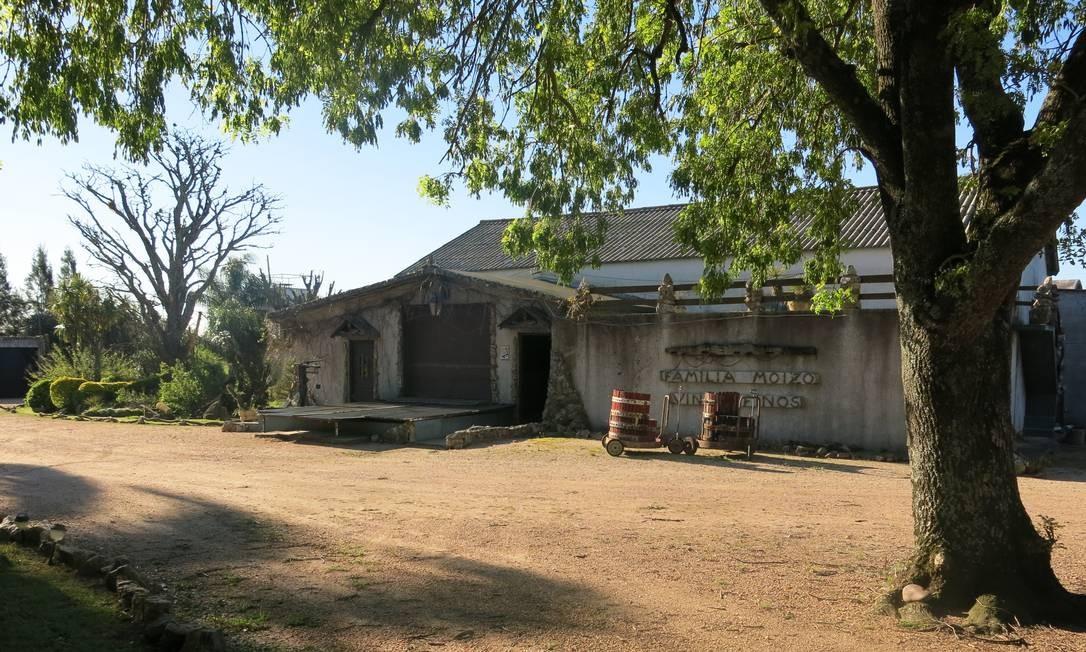 Parte da casa da família Moizo, em Progreso, onde hoje são produzidos artesanalmente os vinhos da bodega Foto: Elisa Torres / .