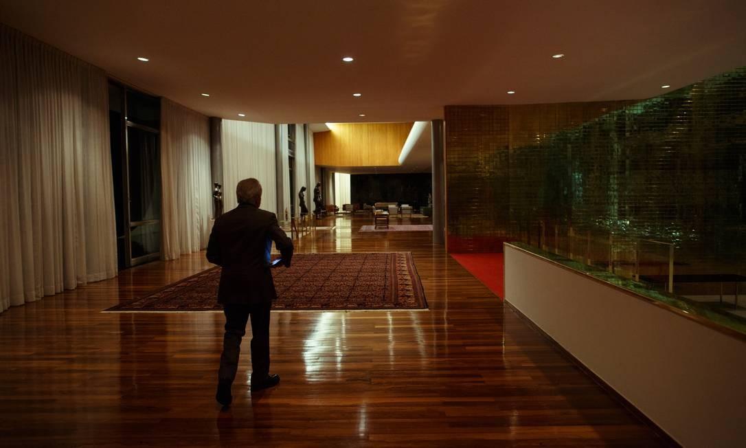 Temer no Alvorada. No dia 1º de janeiro de 2019, ele transmitirá a Presidência a Jair Bolsonaro e deixará Brasília, depois de uma trajetória pública de 35 anos Foto: Daniel Marenco / Agência O Globo