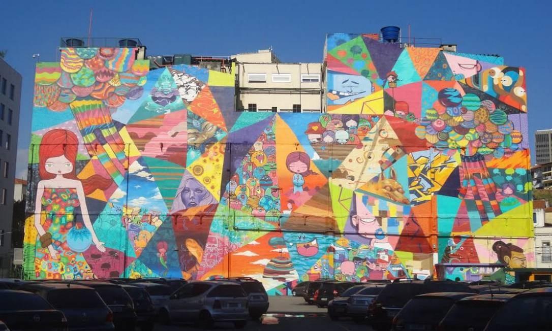 Mural de 2 mil m2 do Toz na Saúde Divulgação