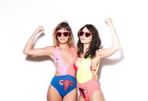 A dupla Camilla Molica e Amanda Grimaldi comanda a festa Transpira Foto: Julia Assis