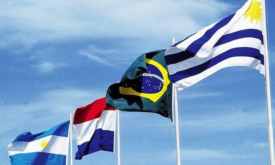 Bandeiras dos países integrantes do Mercosul Foto: Reprodução