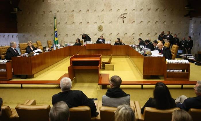 Plenário do Supremo Tribunal Federal (STF) Foto: Ailton de Freitas / Agência O Globo