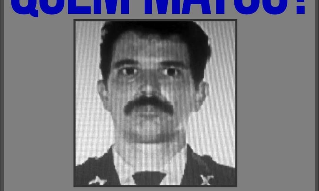 Recompensa de R$ 5 Mil é oferecida por informações exatas sobre os assassinos do subtenente da reserva Claudio Campello Marazzo Foto: Divulgação / Divulgação