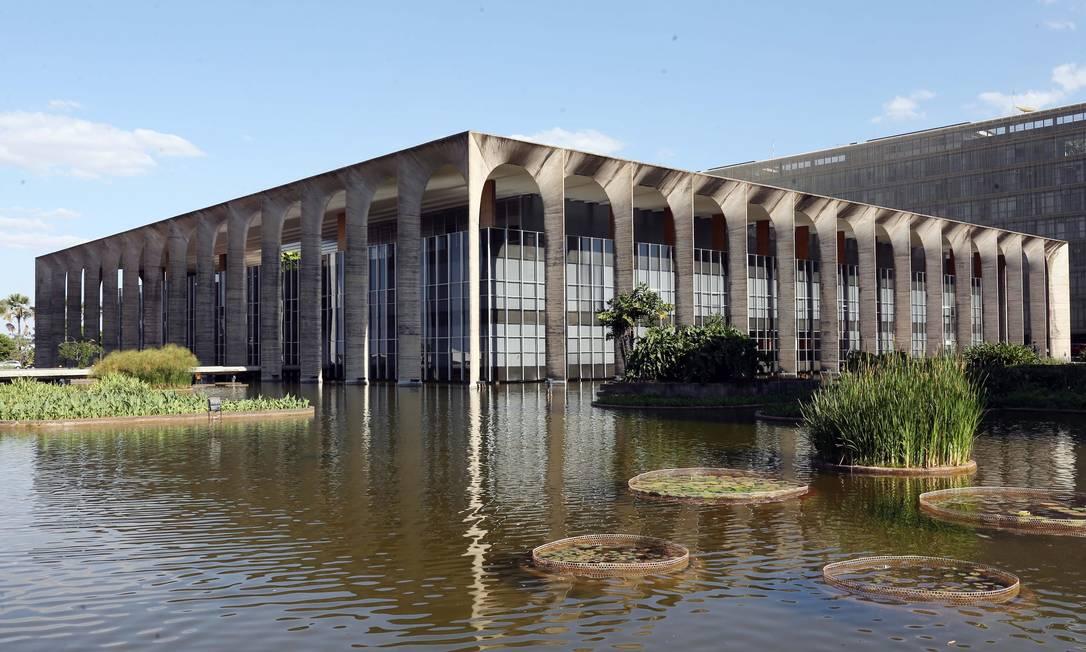 Palácio do Itamaraty, em Brasília Foto: Givaldo Barbosa / Agência O Globo