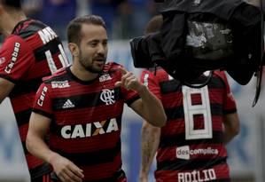 Éverton Ribeiro comandou a vitória do Flamengo sobre o Cruzeiro no Mineirão Foto: Staff Images / Divulgação Flamengo
