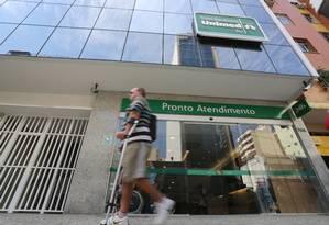 Pronto Atendimento da Unimed em Copacabana, Zona Sul do Rio Foto: Custódio Coimbra / Agência O Globo