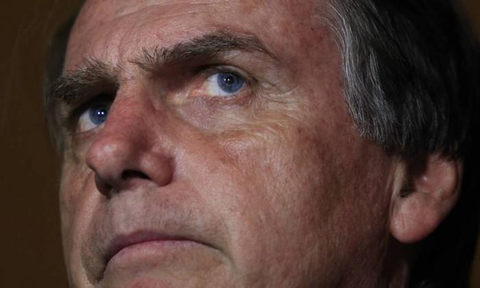 Jair Bolsonaro quando em campanha, na cidade de São José do Rio Preto Foto: Edilson Dantas / Agência O Globo