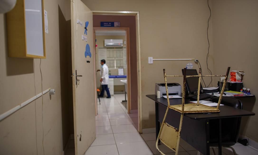Consutorio médico vazio em Vila Boa de Goias Foto: Daniel Marenco / Agência O Globo