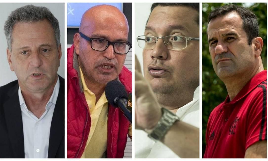 Candidatos à presidência do Flamengo Foto: Montagem sobre fotos de Domingos Peixoto/Bruno Riodi /Guito Moreto/Brenno Carvalho