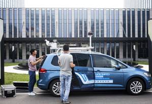 A NavInfo, fabricante de mapas eletrônicos, pretende iniciar a produção em massa de semicondutores para sistemas de navegação usando o Beidou Foto: Bloomberg
